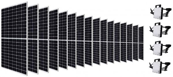 Canadian Solar Balkonkraftwerk PV-Anlage 5200 W inkl. Wechselrichter 4x HM-1200