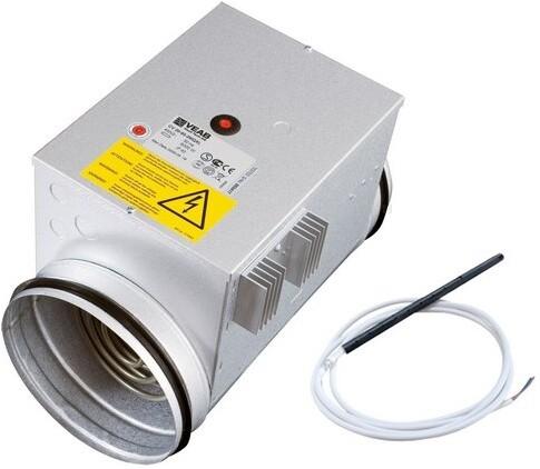 Junkers Bosch Nachheizregister HRE 125 elektrisch, DN 125 900 W