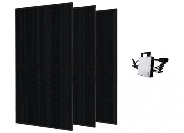 Trina Solar Balkonkraftwerk PV-Anlage 990 W Full Black inkl. Wechselrichter HM-1200