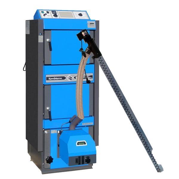 ATMOS Kombikessel Kohle / Pellets KC25SP Set mit Brenner A25GSP und Förderschnecke