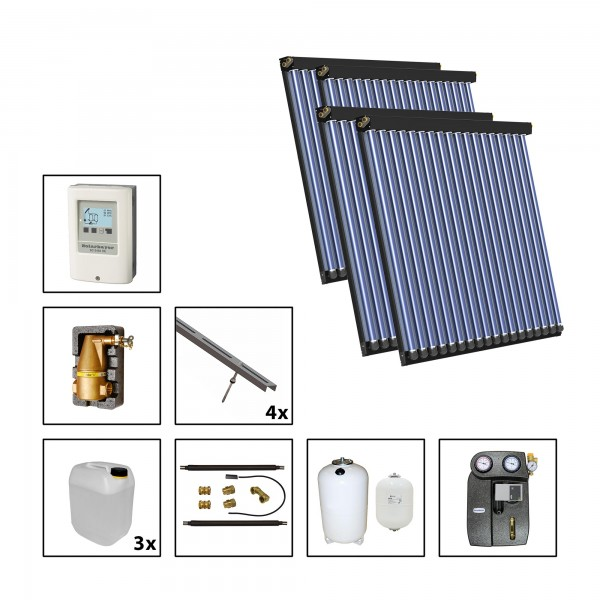 Solarbayer CPC NERO Solarpaket 4 - S Fläche m2: Brutto 13,04 / Apertur 11,32