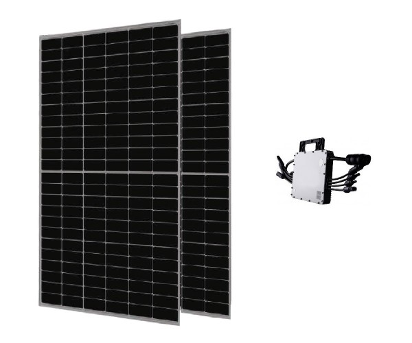 JA Solar Balkonkraftwerk PV-Anlage 820 W inkl. Wechselrichter HM-1500